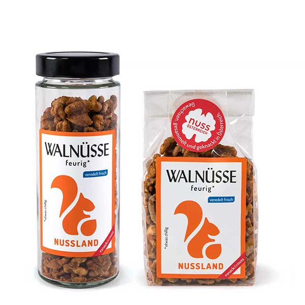 Walnuss-Snack Feurig