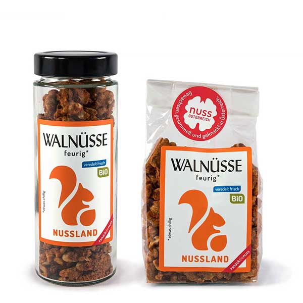 Walnuss-Snack feurig BIO