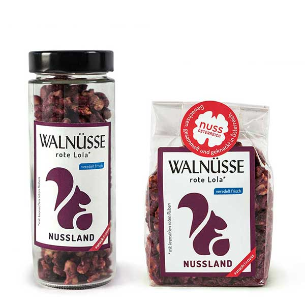 Walnuss-Snack rote Lola