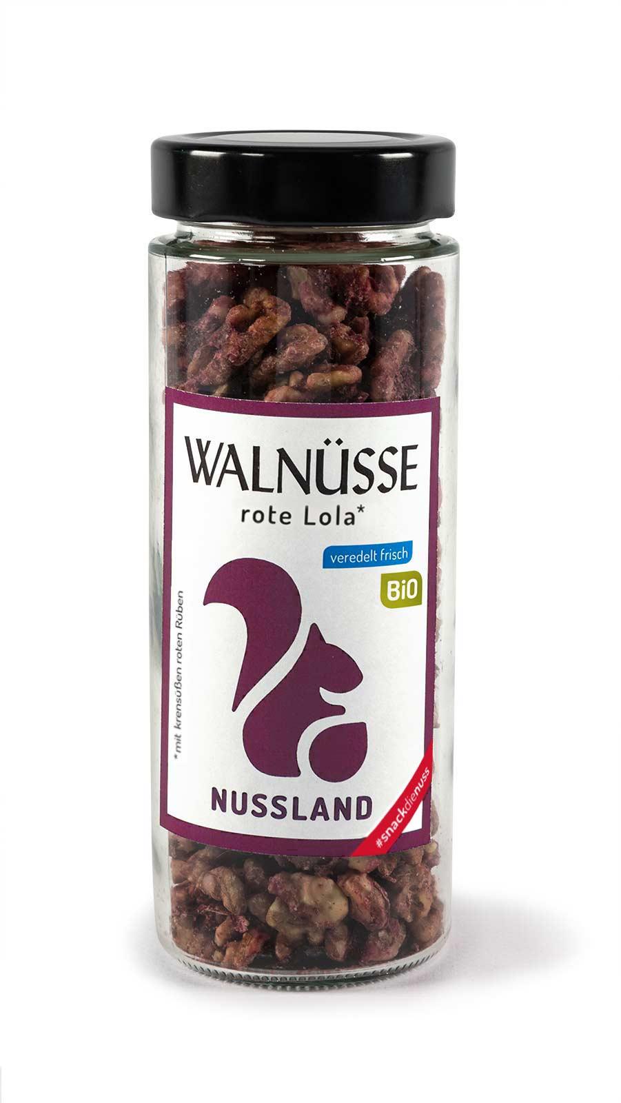 BIO Walnuss-Snack 'rote Lola'